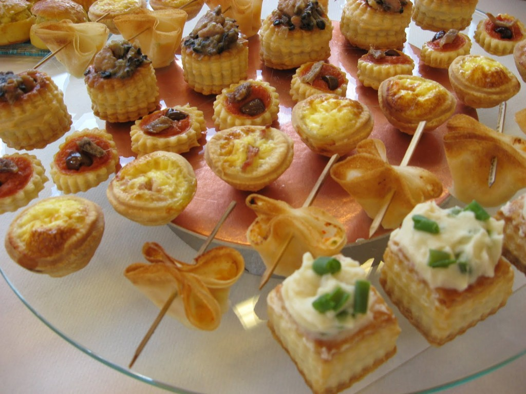 Canapés catering for an event