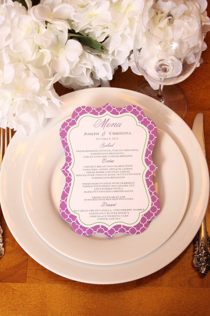 personalized menu for outdoor catering