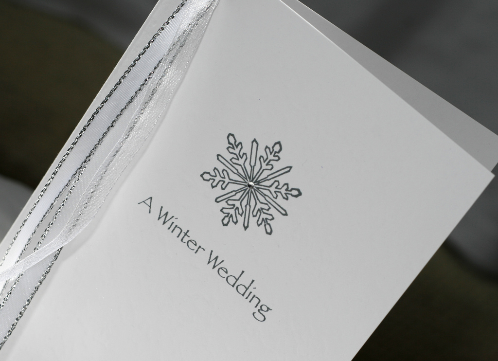 Invitation for Winter wedding